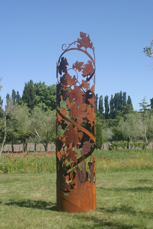 Vine, Steel Pipe sculpture by Robbie Graham