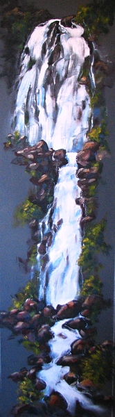 Wairere Falls painting by Sue Graham