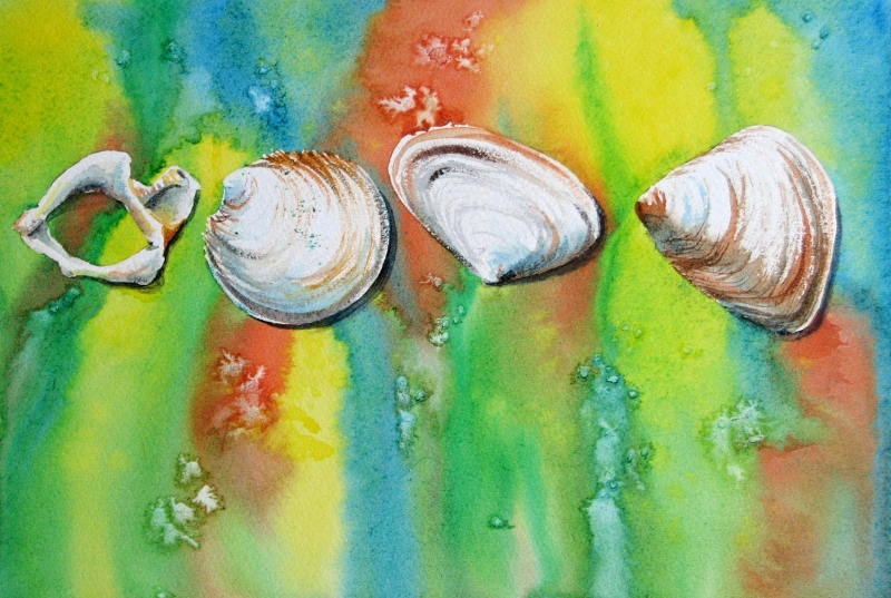 Pearly Shells I painting by Sue Graham