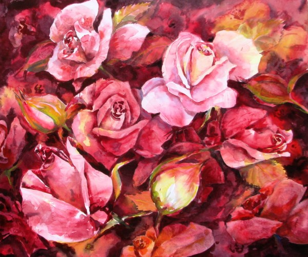 Red Roses by Sue Graham