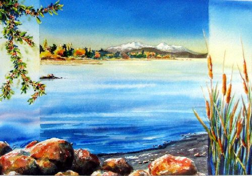 Cool, Warm, Lake Taupo by sue graham