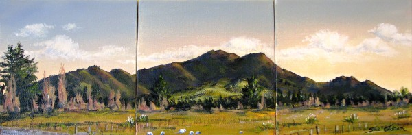 Mt. Tauhara Triptych by Sue Graham