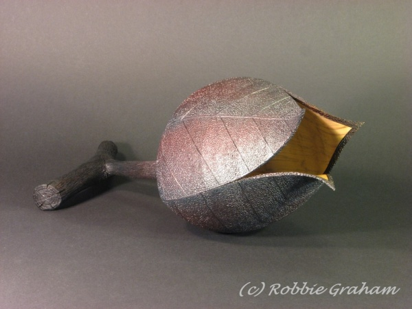 Pine pod by woodturner Robbie Graham