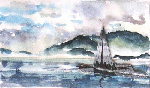 Seascape painting by Sue Graham