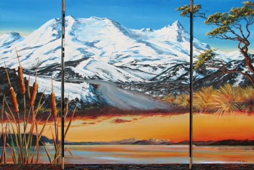 Taupo Triptych by Sue Graham