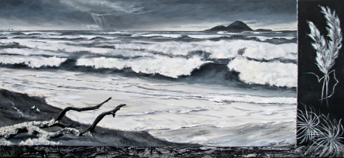 Waves Acrylic Painting by Sue Graham